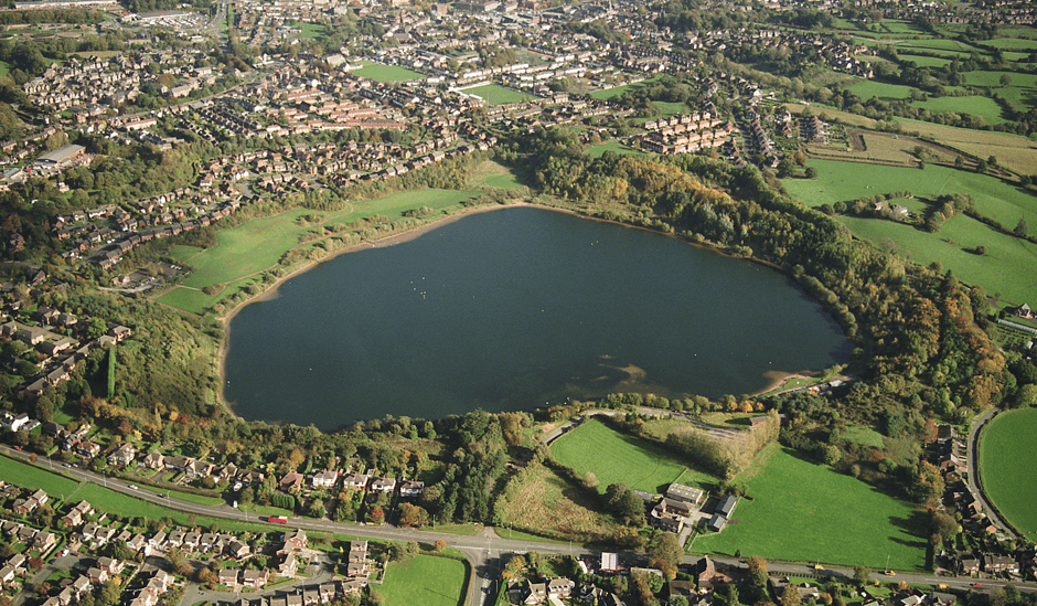 Aerial View of Astbury Mere Country Park Congleton