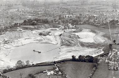 Sand Quarry at Astbury Mere in Congleton