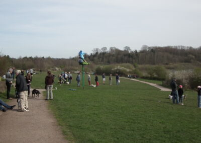 People enjoying the Mere.