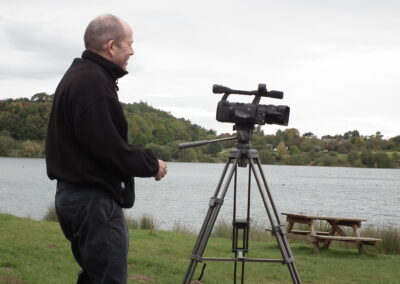 Video shoot at Astbury Mere