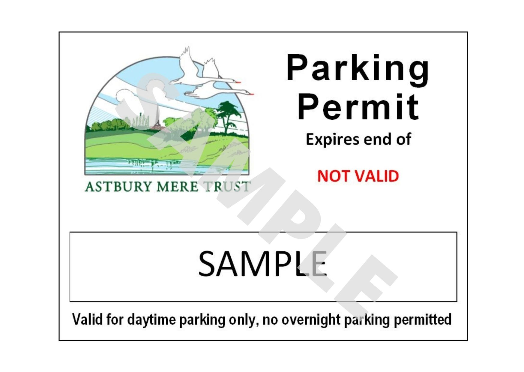 Sample Parking Permit